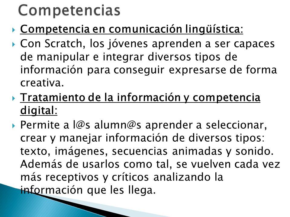 Competencias Competencia en comunicación lingüística: