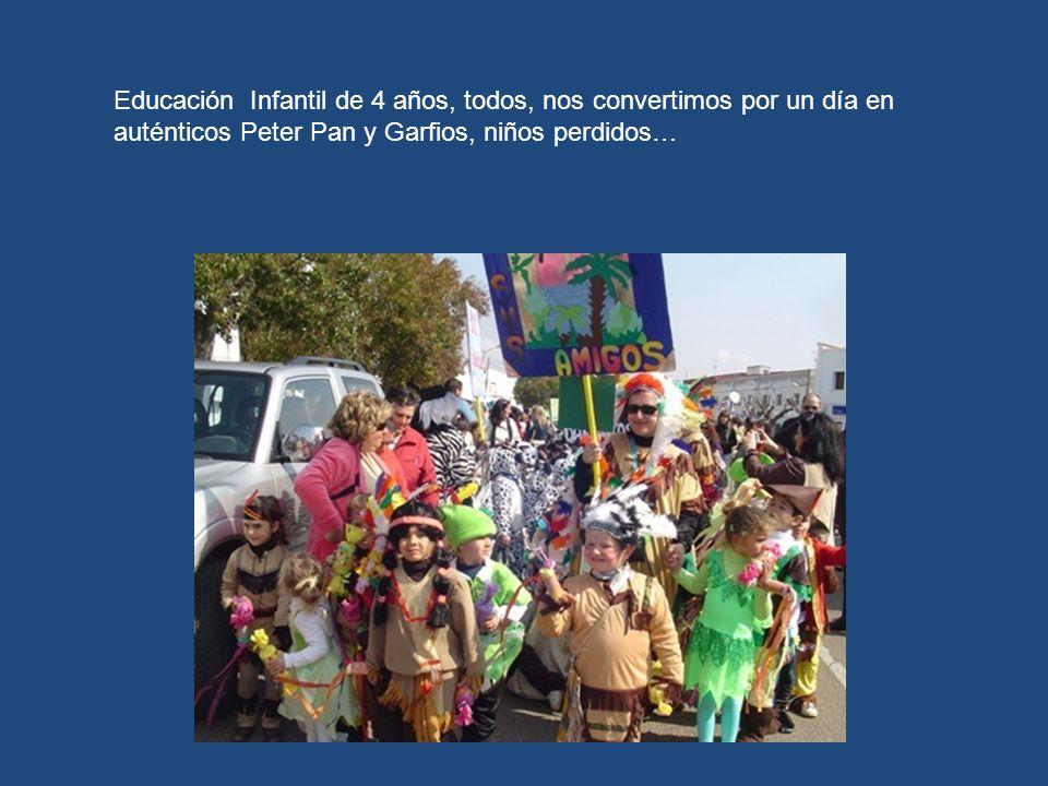 Educación Infantil de 4 años, todos, nos convertimos por un día en auténticos Peter Pan y Garfios, niños perdidos…