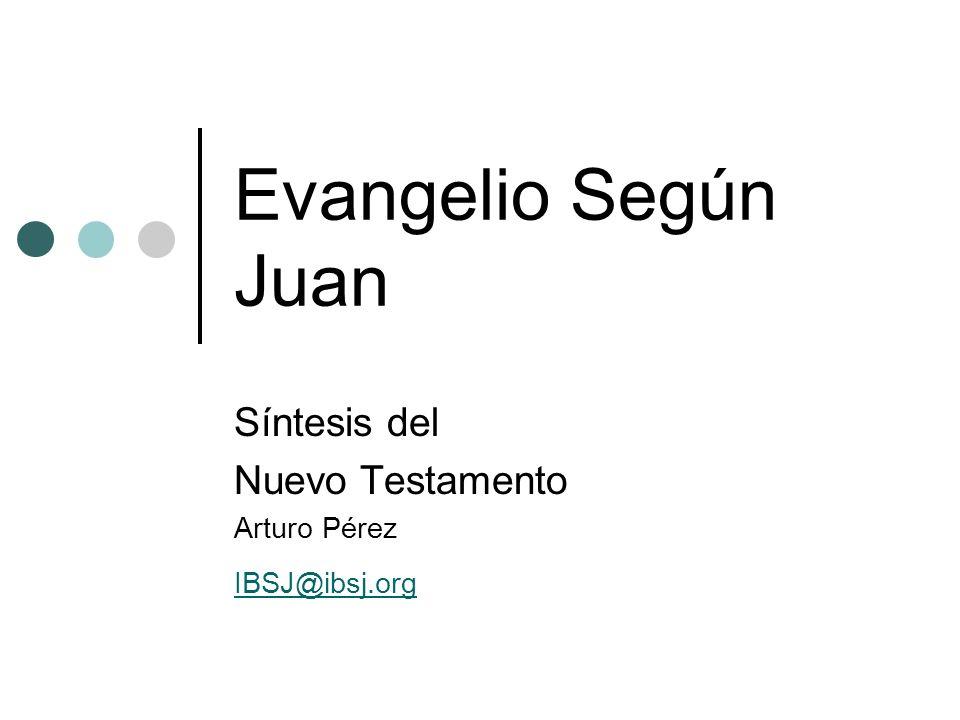 Síntesis del Nuevo Testamento Arturo Pérez IBSJ@ibsj.org