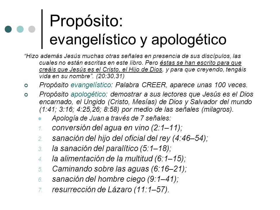 Propósito: evangelístico y apologético