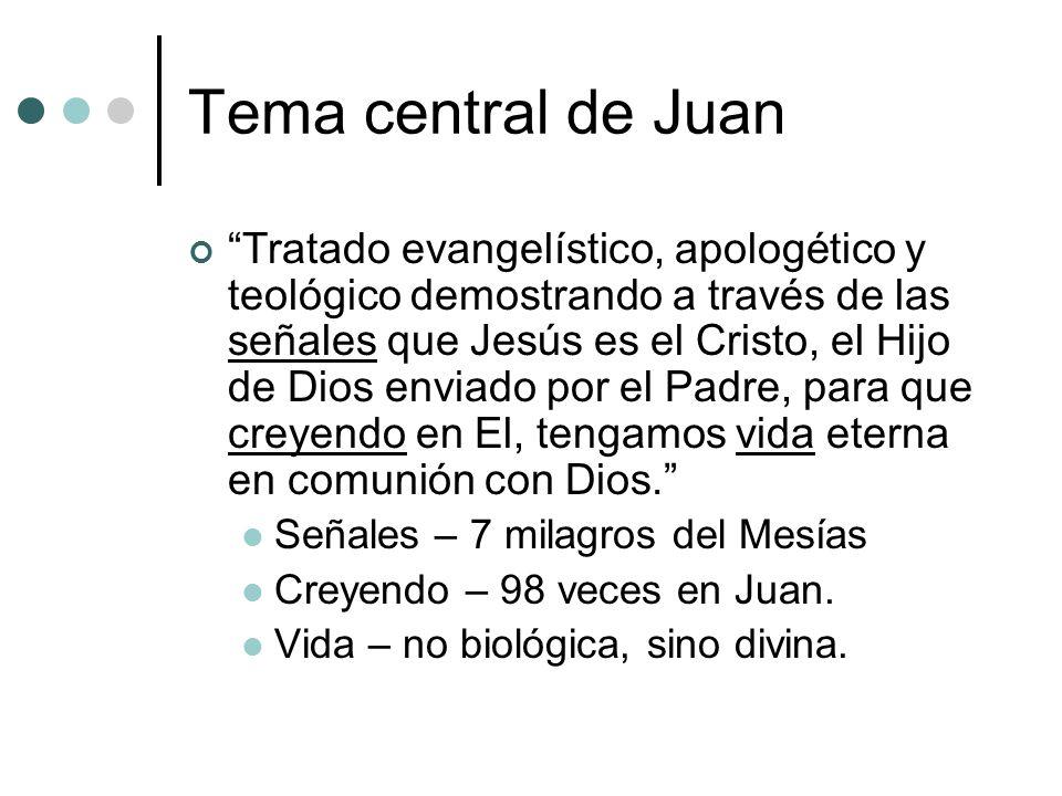 Tema central de Juan