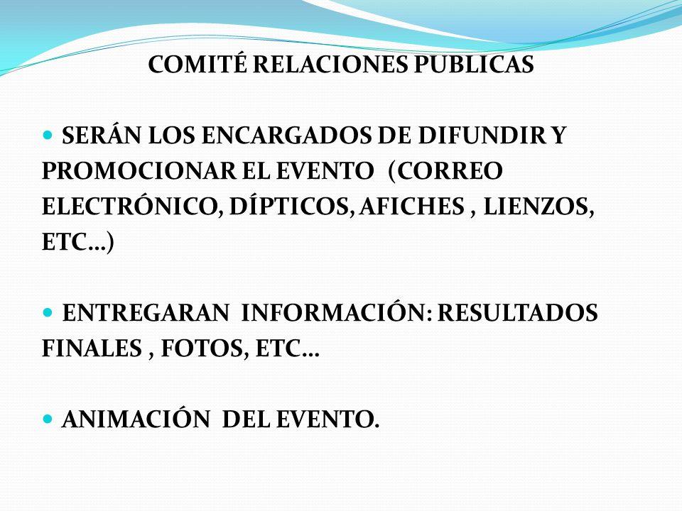 COMITÉ RELACIONES PUBLICAS