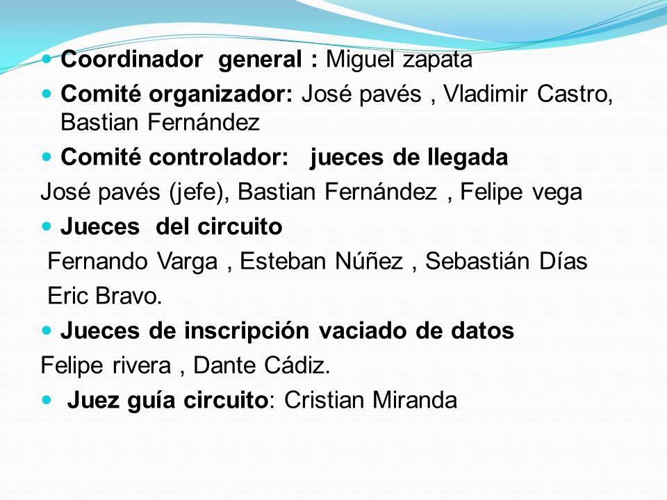 Coordinador general : Miguel zapata