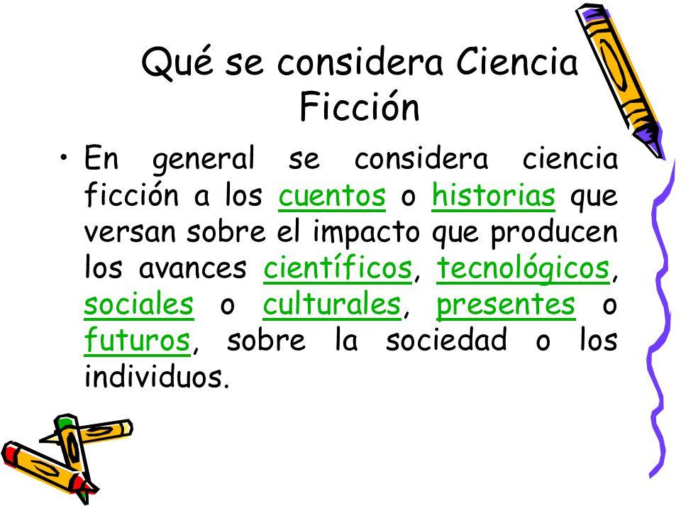 Qué se considera Ciencia Ficción