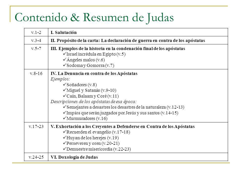 Contenido & Resumen de Judas