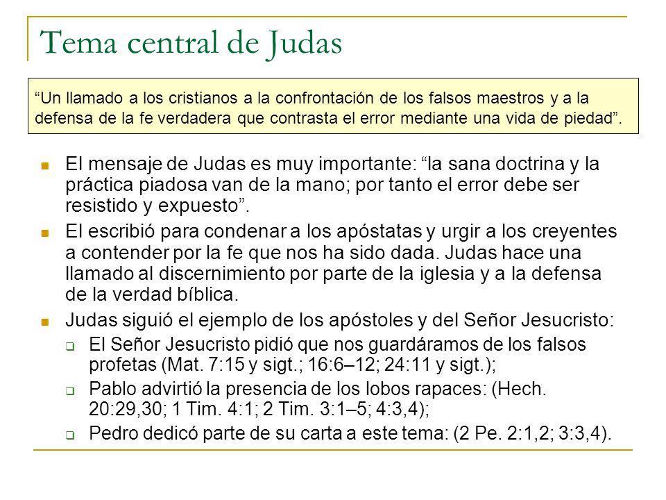 Tema central de Judas