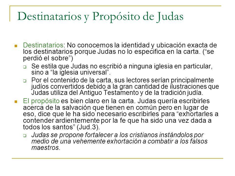 Destinatarios y Propósito de Judas
