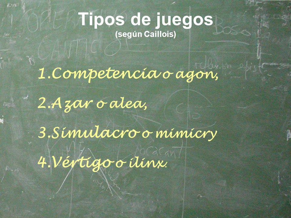 Tipos de juegos (según Caillois)