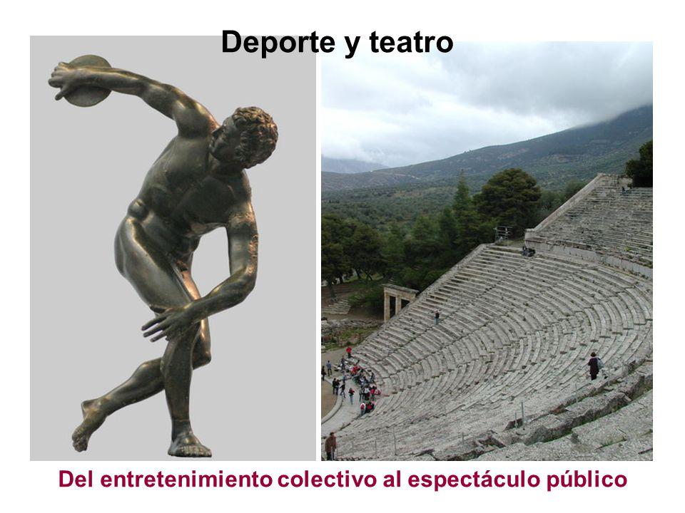 Del entretenimiento colectivo al espectáculo público