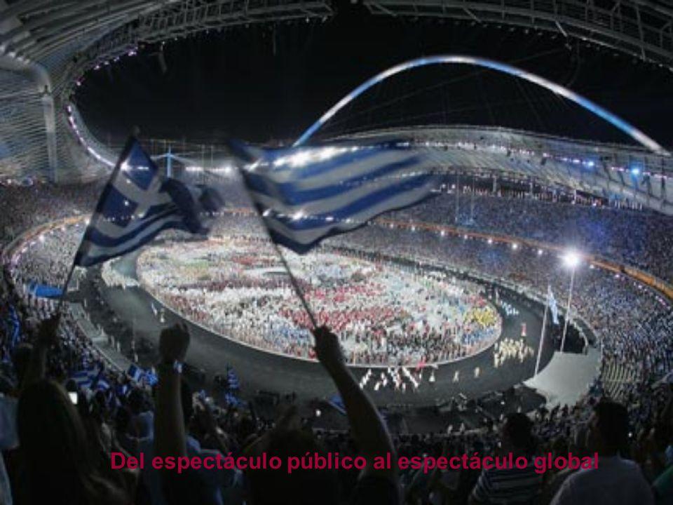 Del espectáculo público al espectáculo global