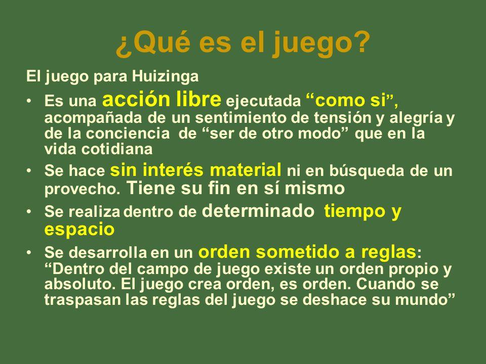 ¿Qué es el juego El juego para Huizinga