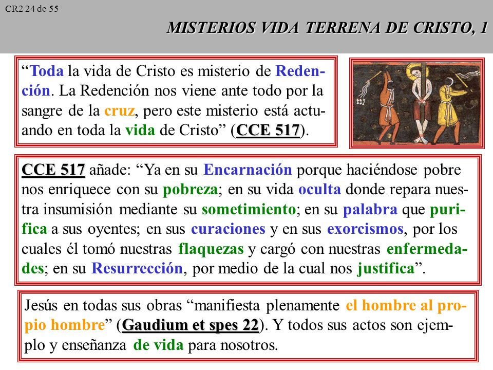 MISTERIOS VIDA TERRENA DE CRISTO, 1