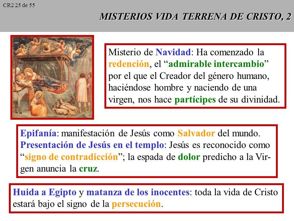 MISTERIOS VIDA TERRENA DE CRISTO, 2