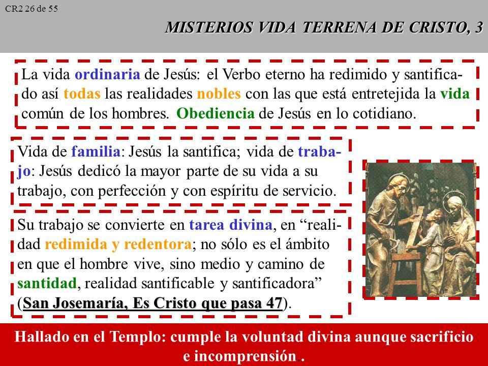 MISTERIOS VIDA TERRENA DE CRISTO, 3