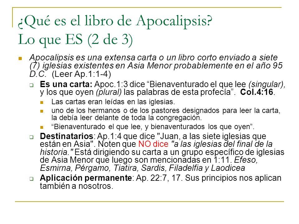 ¿Qué es el libro de Apocalipsis Lo que ES (2 de 3)