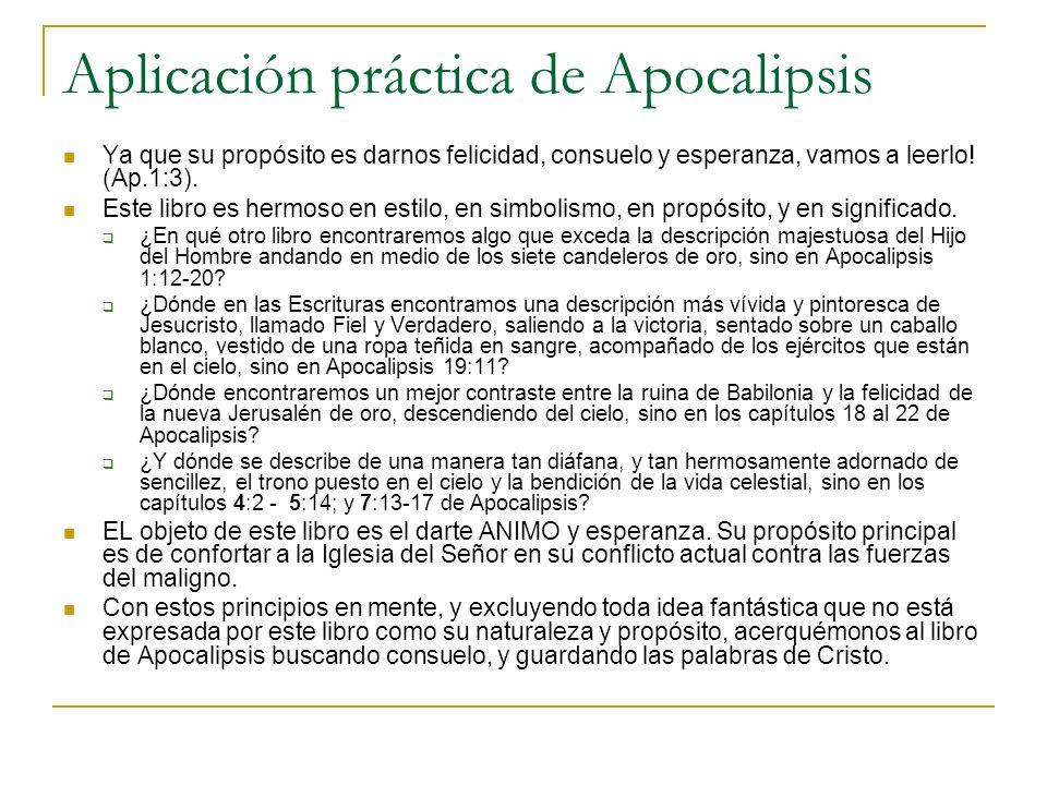Aplicación práctica de Apocalipsis