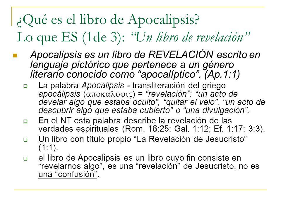 ¿Qué es el libro de Apocalipsis