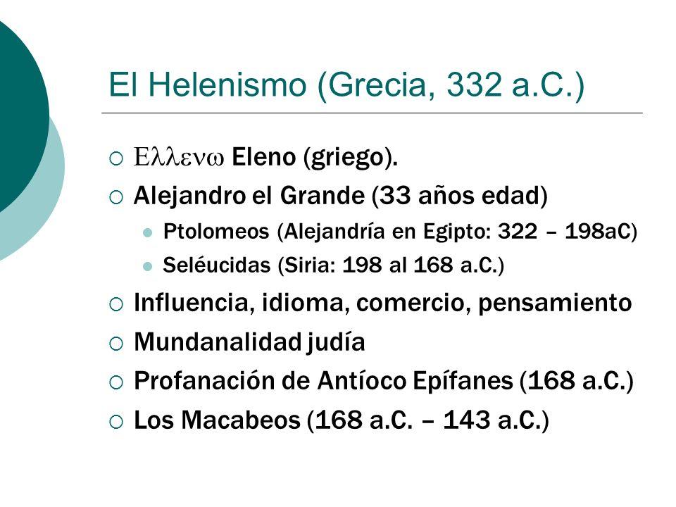 El Helenismo (Grecia, 332 a.C.)