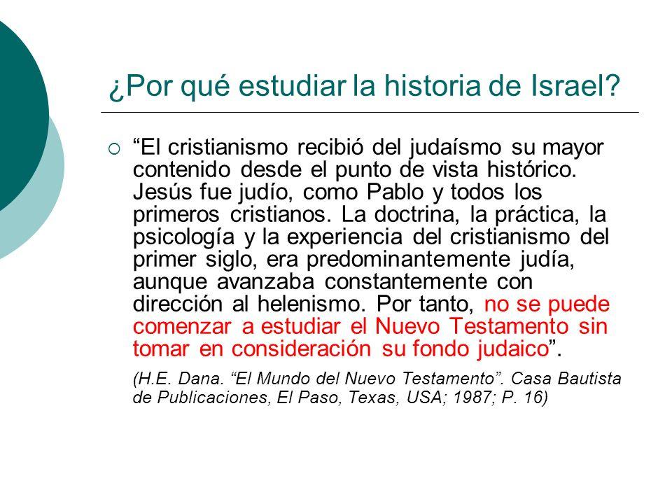 ¿Por qué estudiar la historia de Israel