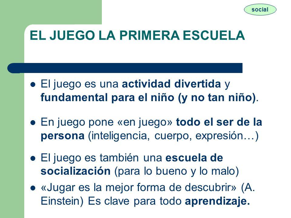 EL JUEGO LA PRIMERA ESCUELA