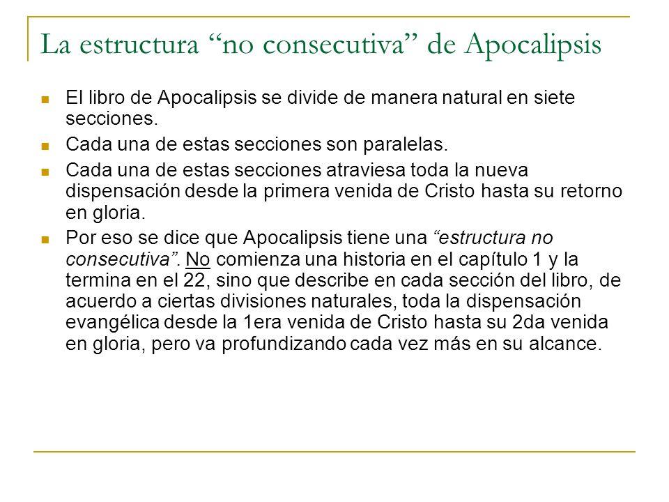 La estructura no consecutiva de Apocalipsis