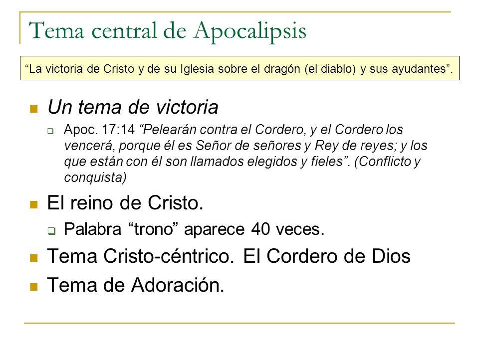 Tema central de Apocalipsis
