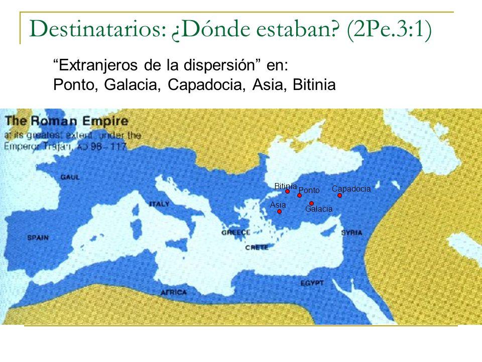 Destinatarios: ¿Dónde estaban (2Pe.3:1)
