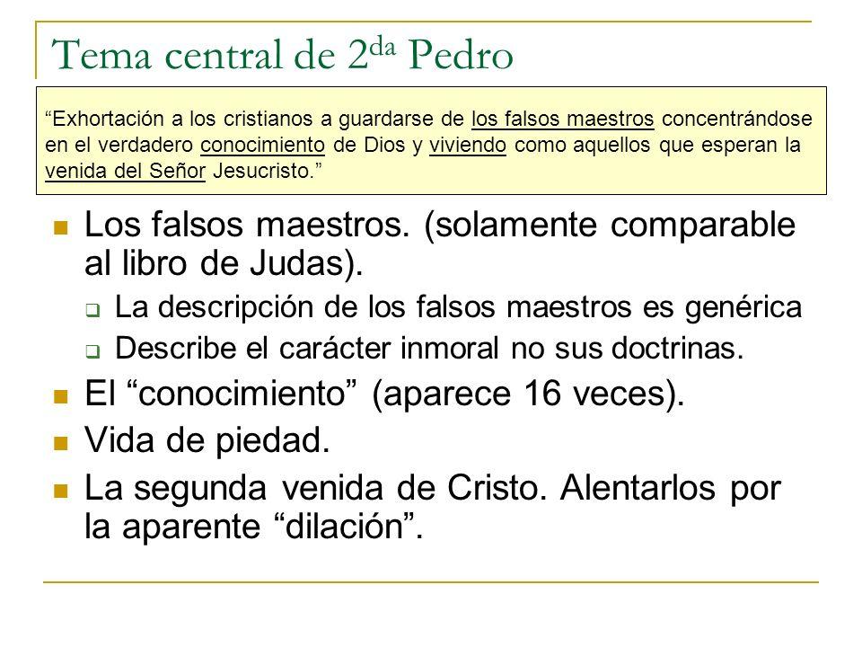 Tema central de 2da Pedro