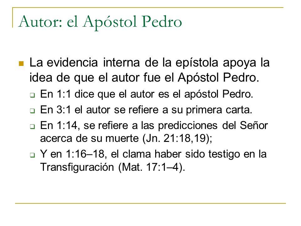 Autor: el Apóstol Pedro