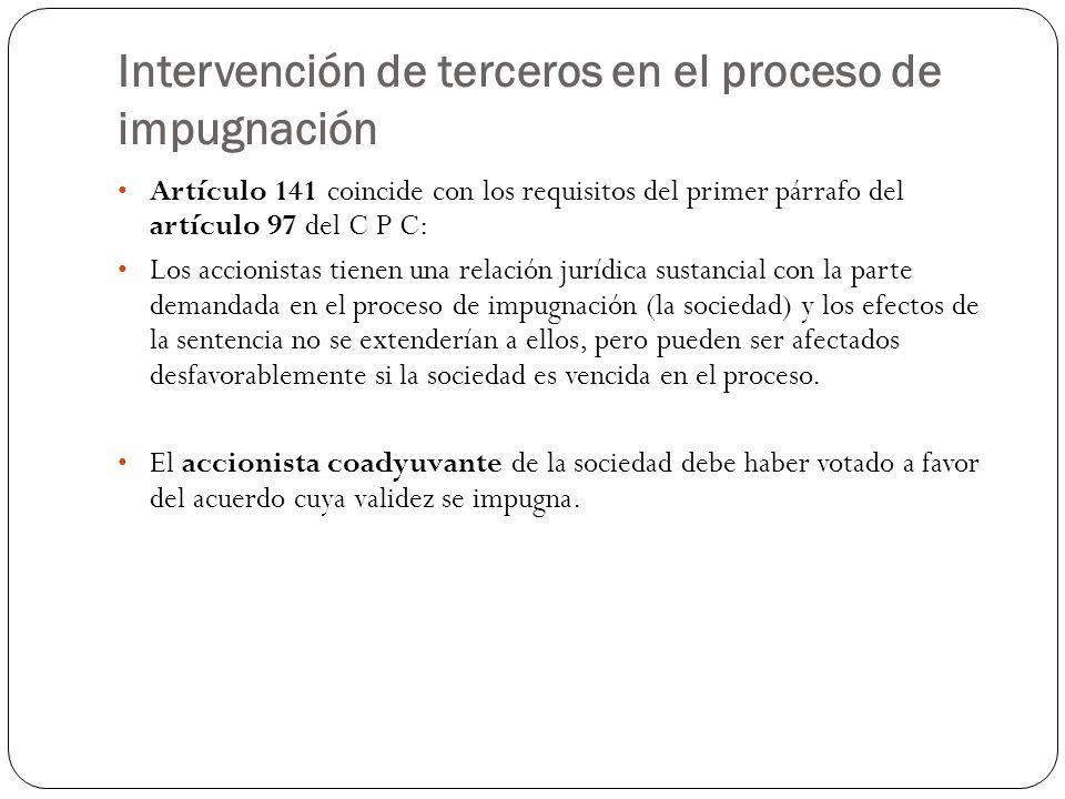Intervención de terceros en el proceso de impugnación