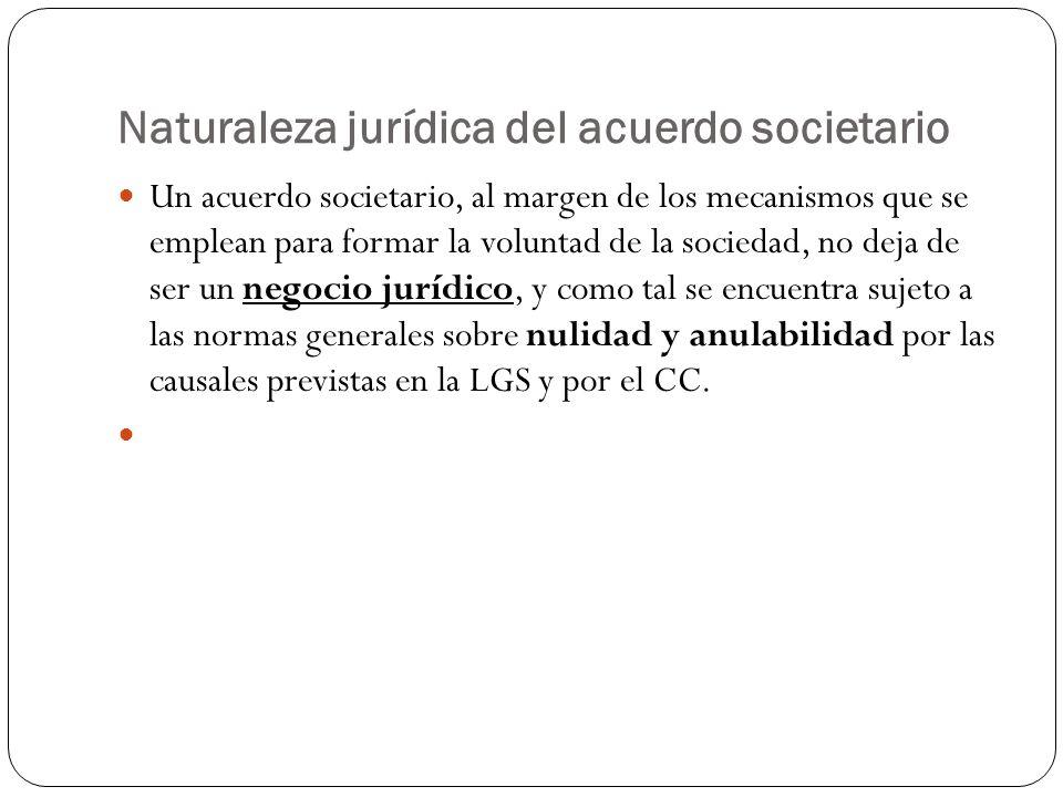 Naturaleza jurídica del acuerdo societario