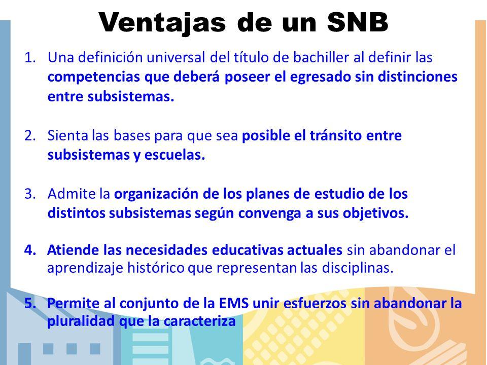 Ventajas de un SNB