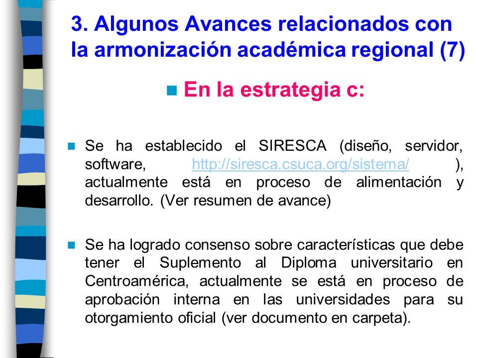 3. Algunos Avances relacionados con la armonización académica regional (7)