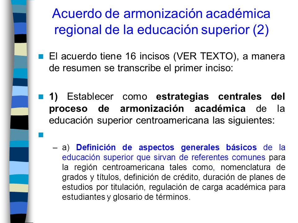 Acuerdo de armonización académica regional de la educación superior (2)