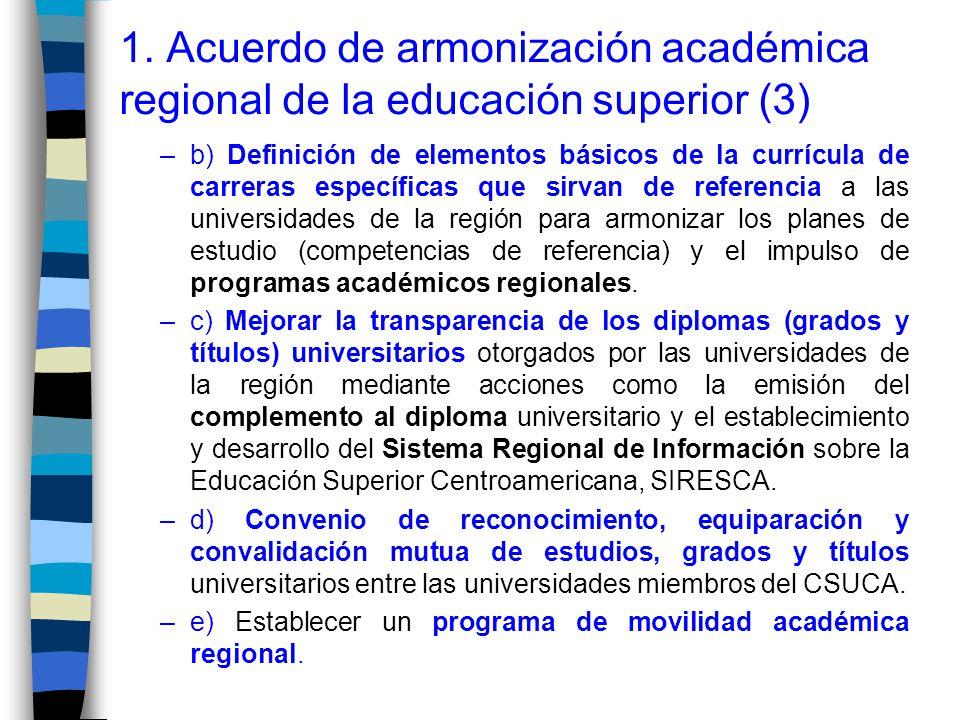 1. Acuerdo de armonización académica regional de la educación superior (3)