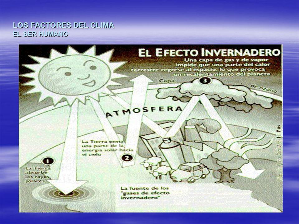LOS FACTORES DEL CLIMA EL SER HUMANO