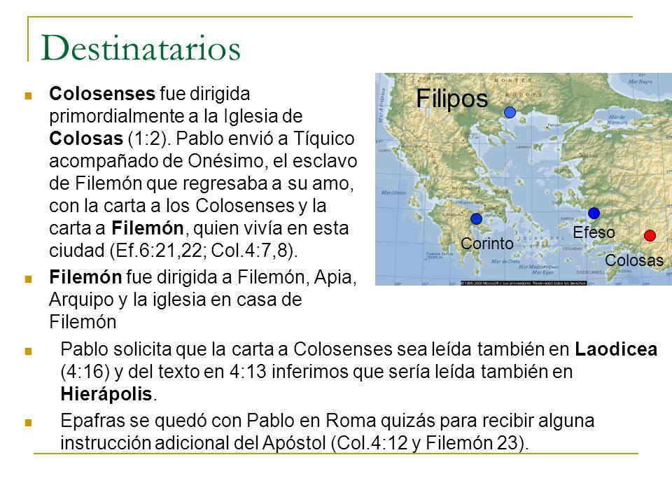 Destinatarios Filipos