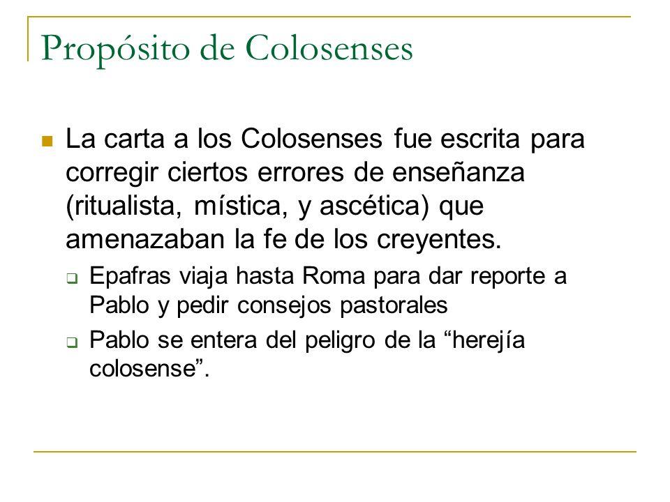 Propósito de Colosenses