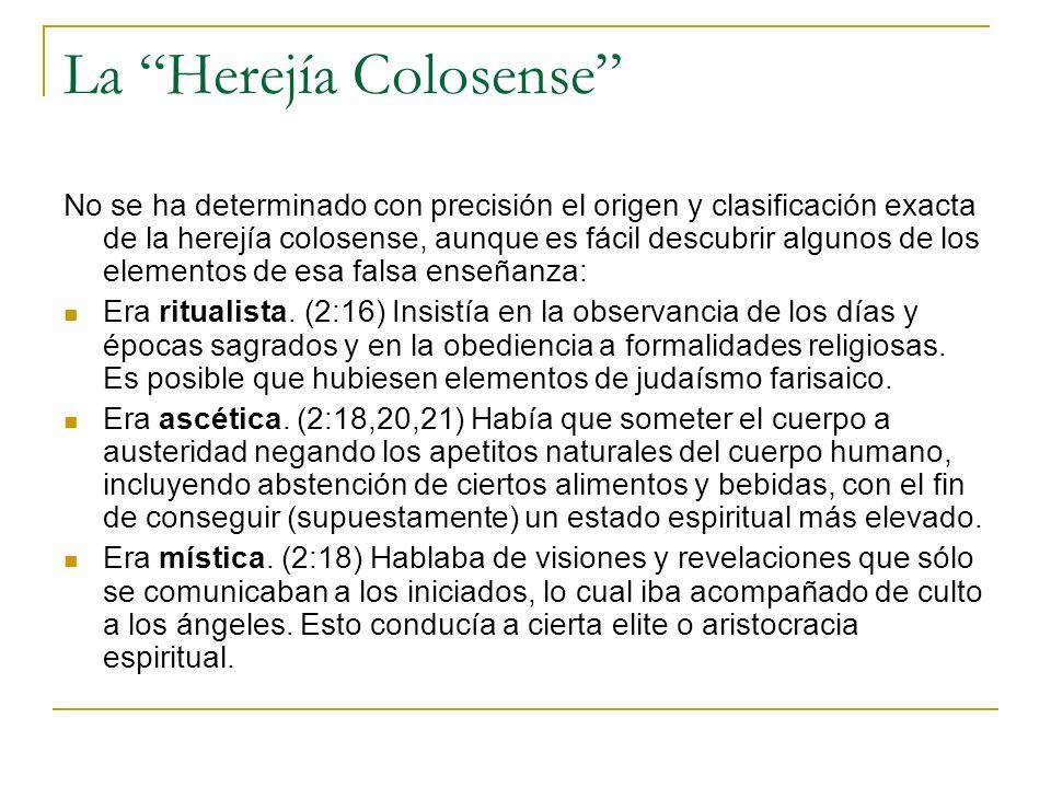 La Herejía Colosense