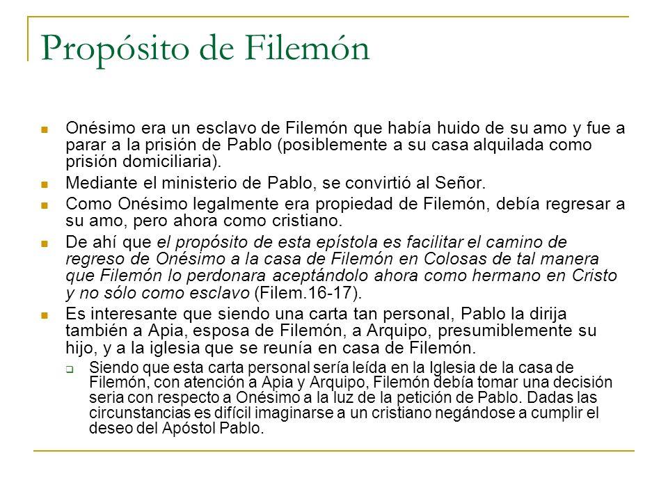 Propósito de Filemón