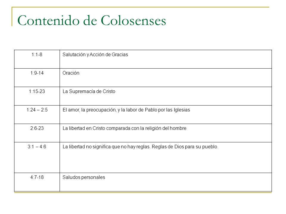 Contenido de Colosenses