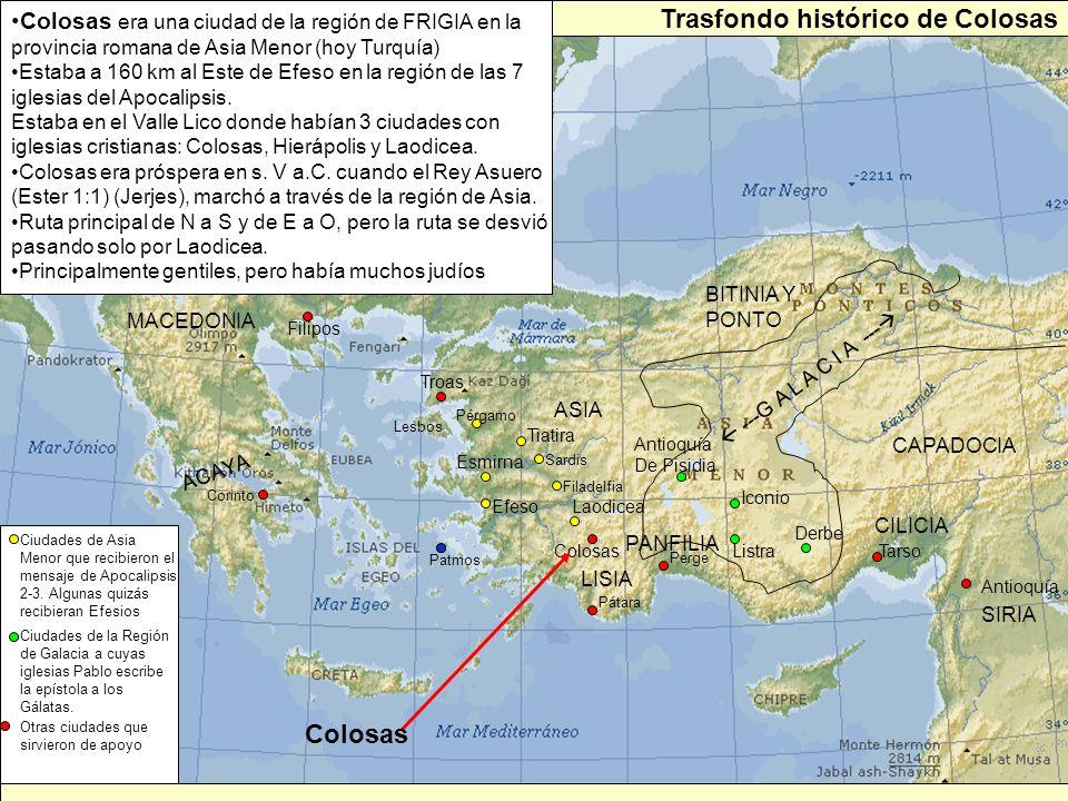 Trasfondo histórico de Colosas
