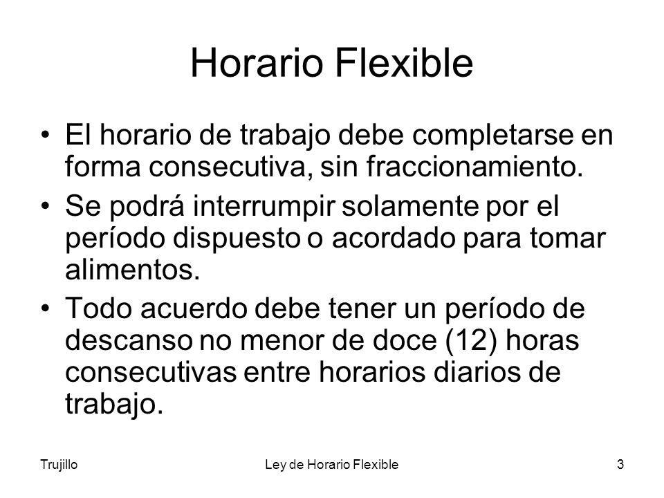 Ley de Horario Flexible