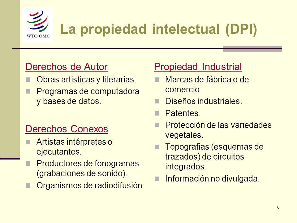 La propiedad intelectual (DPI)