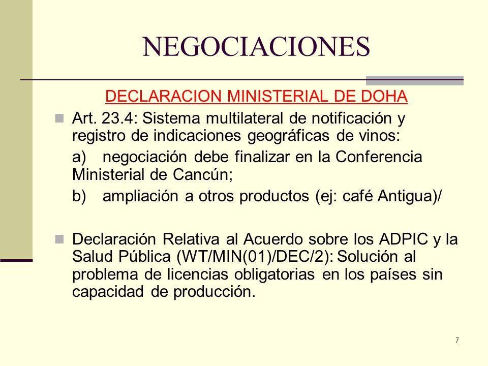 DECLARACION MINISTERIAL DE DOHA