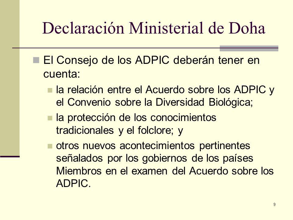 Declaración Ministerial de Doha