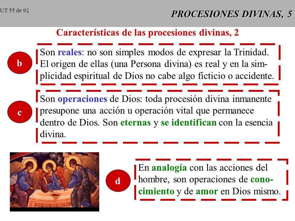 Características de las procesiones divinas, 2