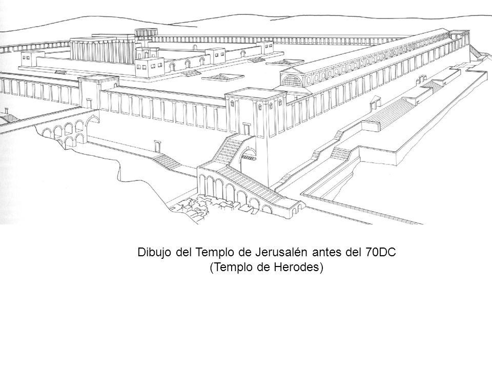 Dibujo del Templo de Jerusalén antes del 70DC