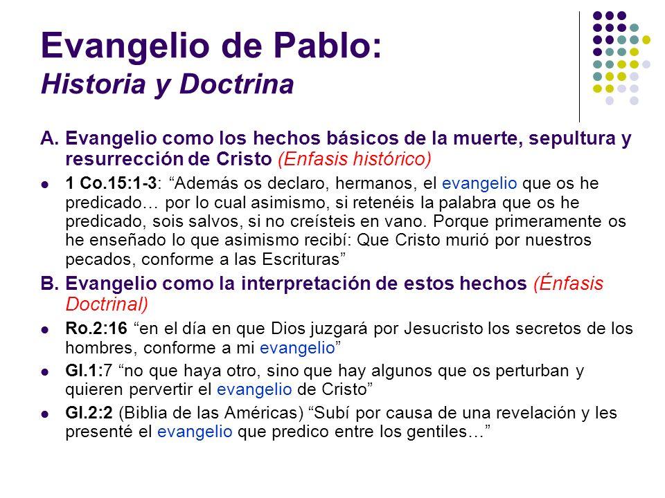 Evangelio de Pablo: Historia y Doctrina
