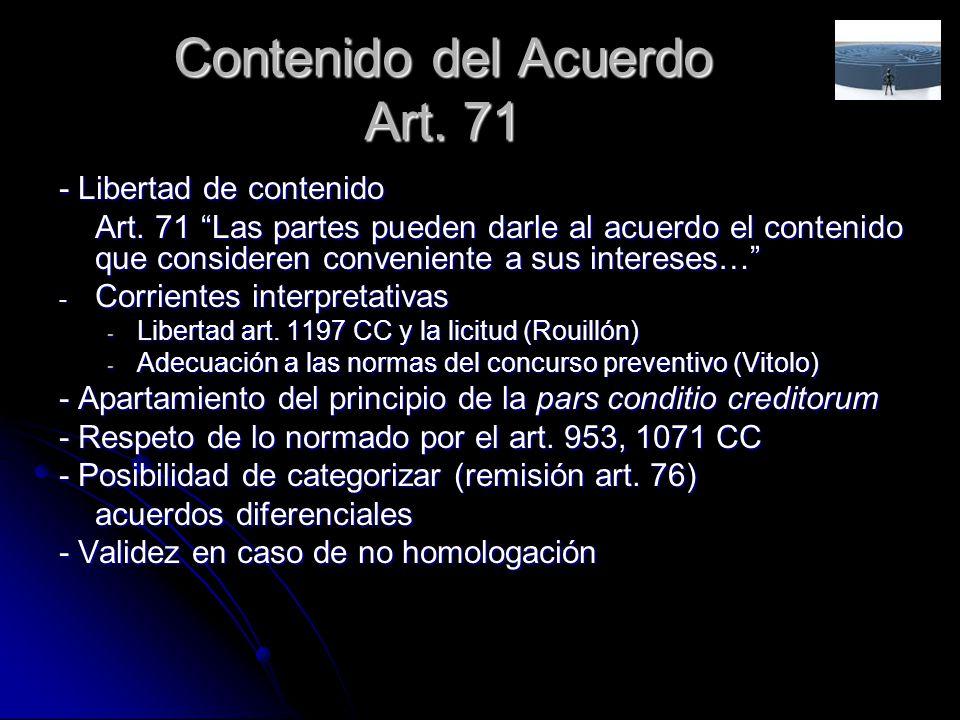 Contenido del Acuerdo Art. 71